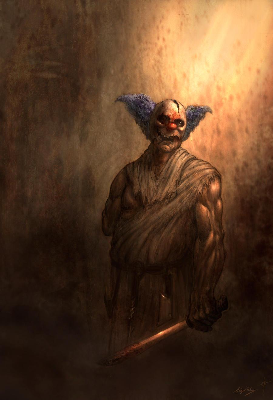 Killer Krusty by AlexRuizArt