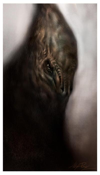 Alien Zombie by AlexRuizArt