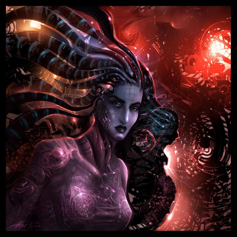 Cybergirl by AlexRuizArt