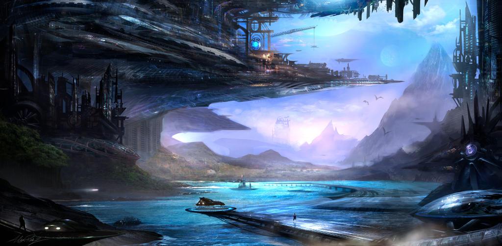 Industrial Beach by AlexRuizArt