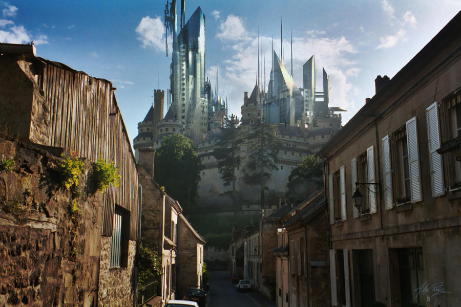 Future Castle by tarrzan 25+ Beautiful Examples of Futuristic City Skylines Illustrations