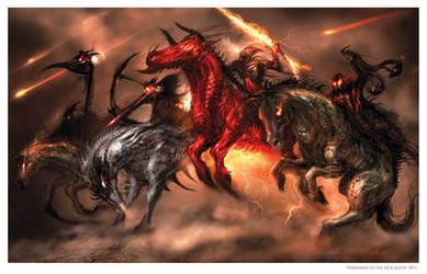 Four Horsemen of the Apocalypse by AlexRuizArt