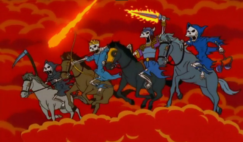 Simpsons Four Horsemen by AlexRuizArt