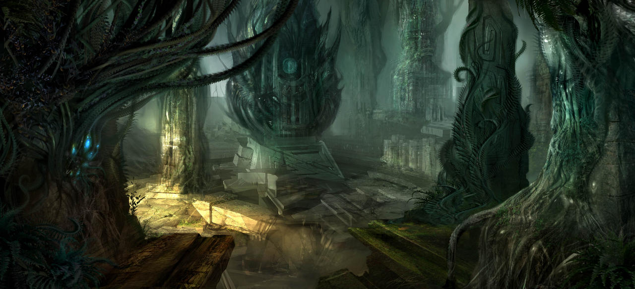 Abandoned Alien Ruins by AlexRuizArt