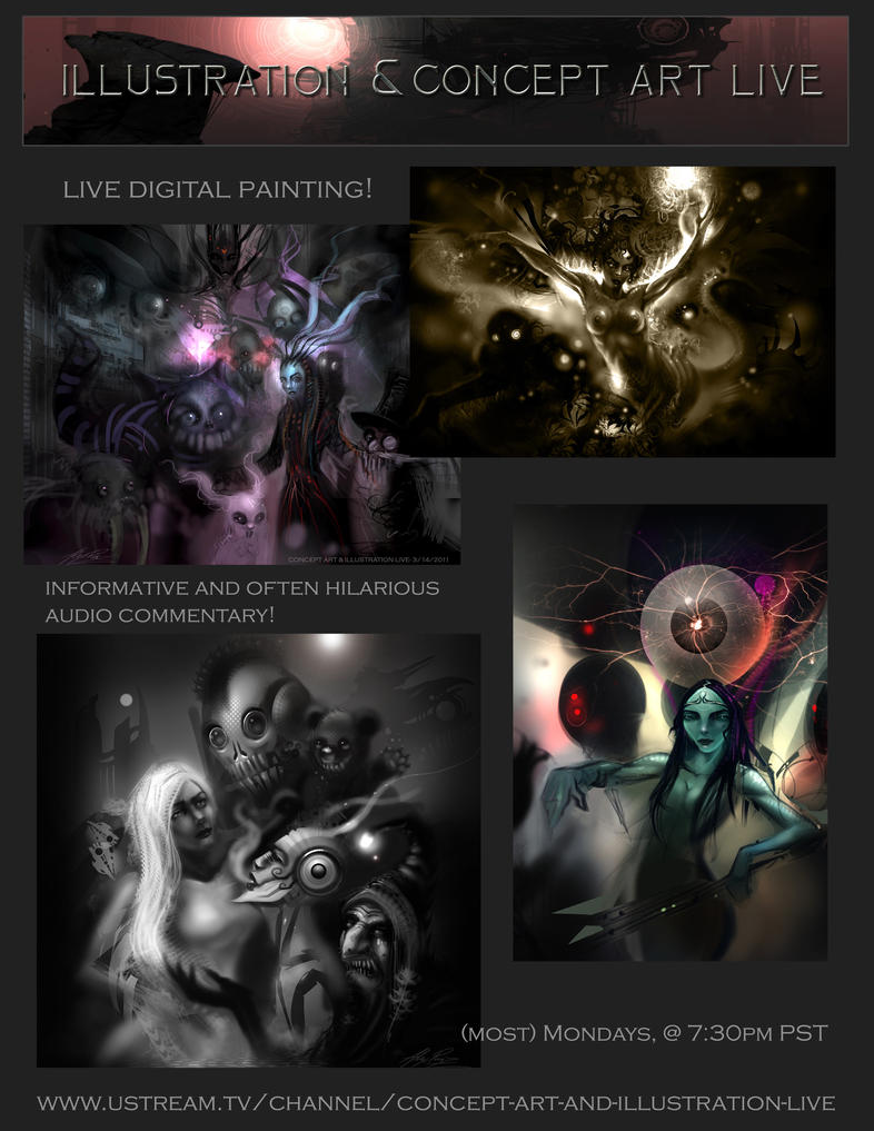 Live Digital Painting-Poster by AlexRuizArt