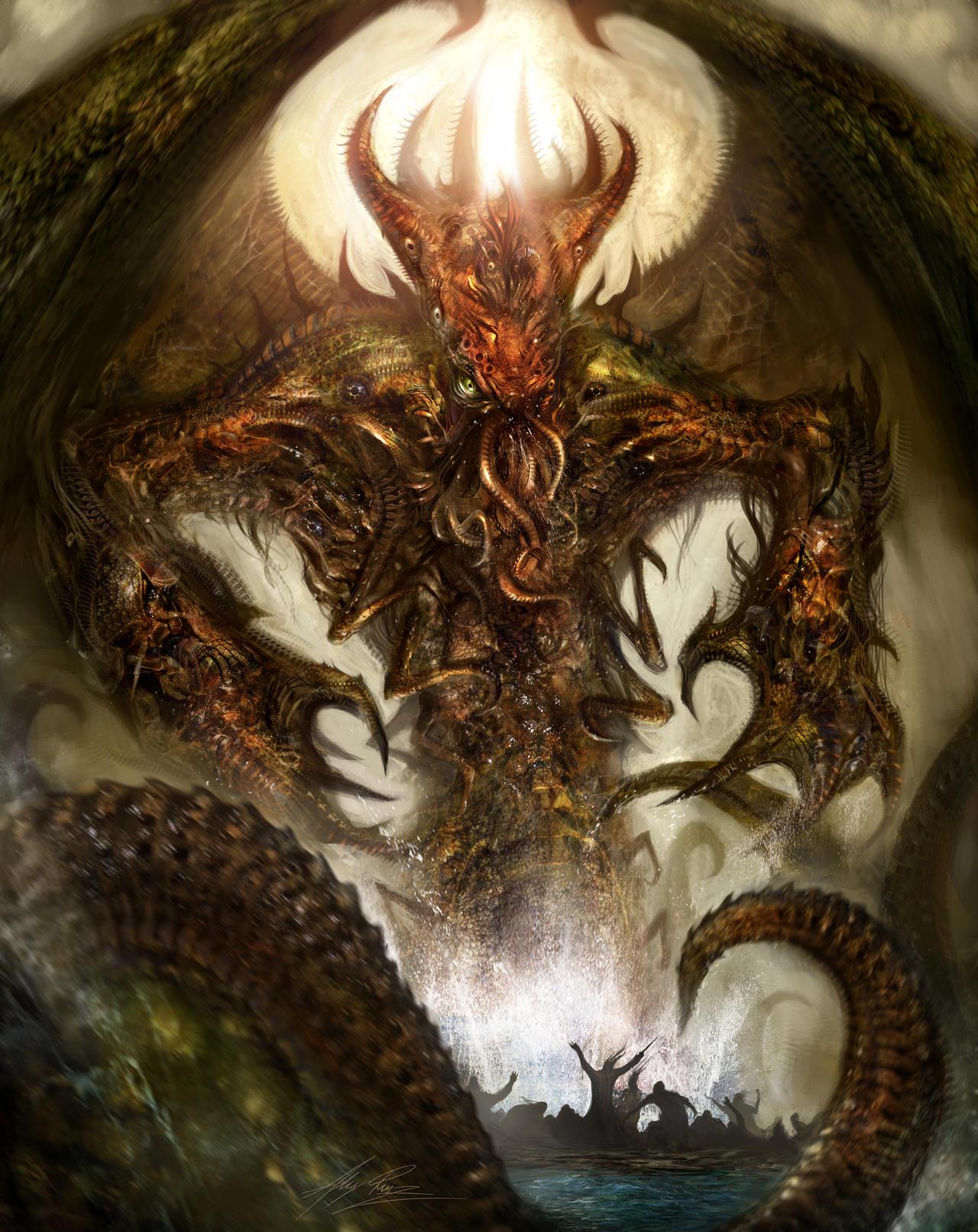 Cthulhu Rising by AlexRuizArt