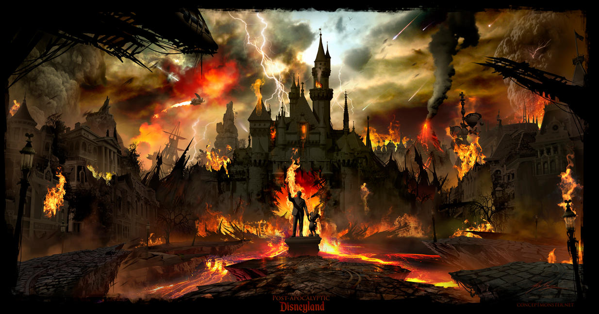 Post Apocalyptic Disneyland by AlexRuizArt
