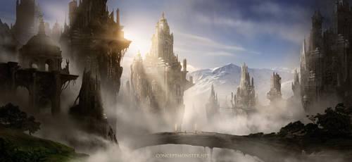 Skyrim Fantasy Ruins by AlexRuizArt