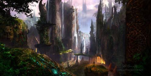 Fantasy Environment 2 by AlexRuizArt