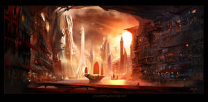 Future Harbor by AlexRuizArt