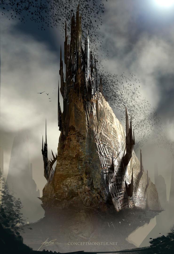 Obsidian Castle by AlexRuizArt