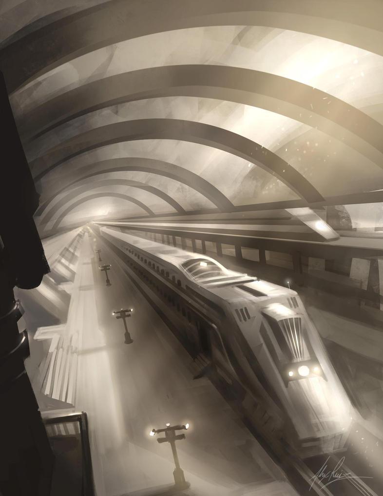 Train Station by AlexRuizArt