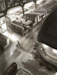 Diner Interior by AlexRuizArt