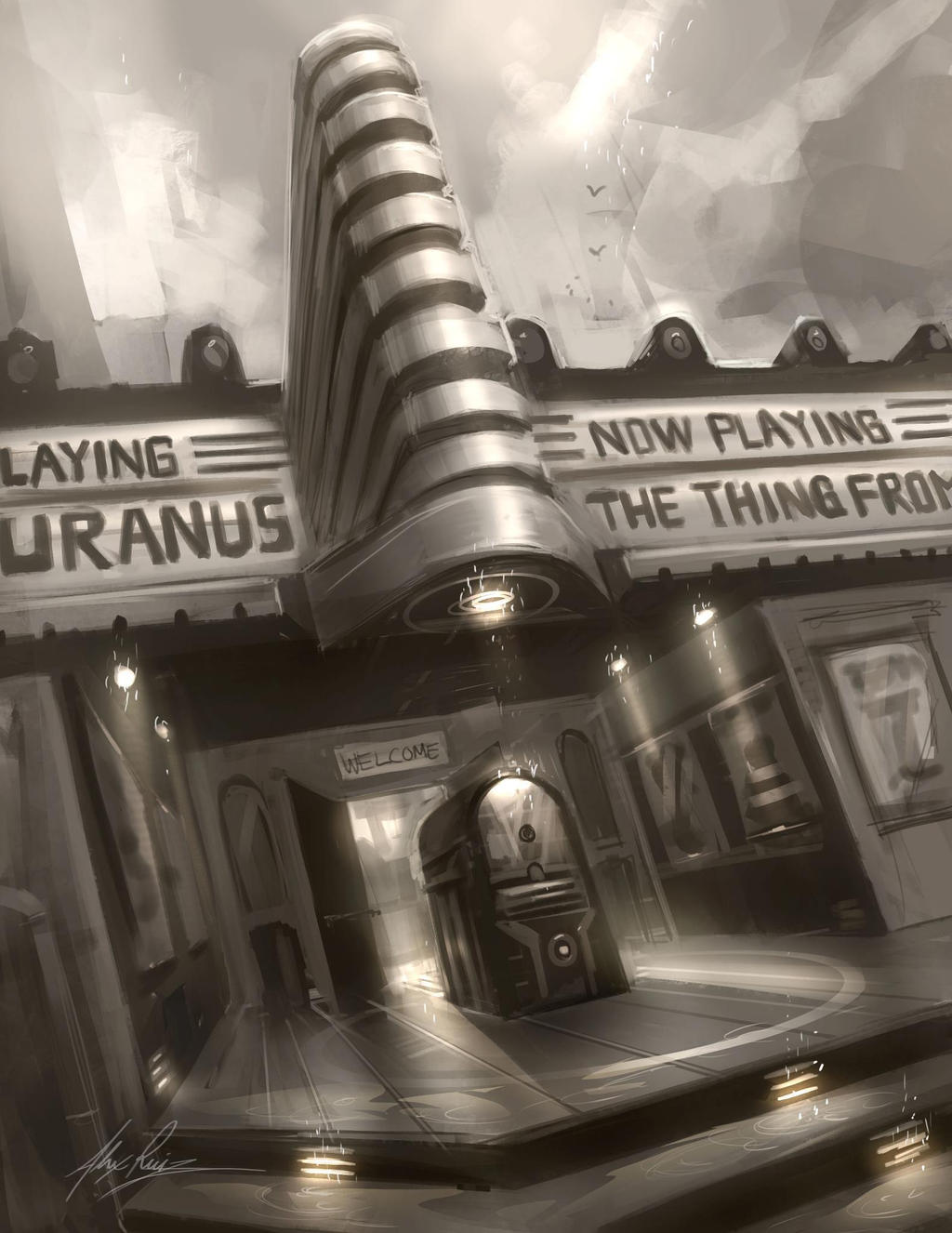 Movie Theater by AlexRuizArt