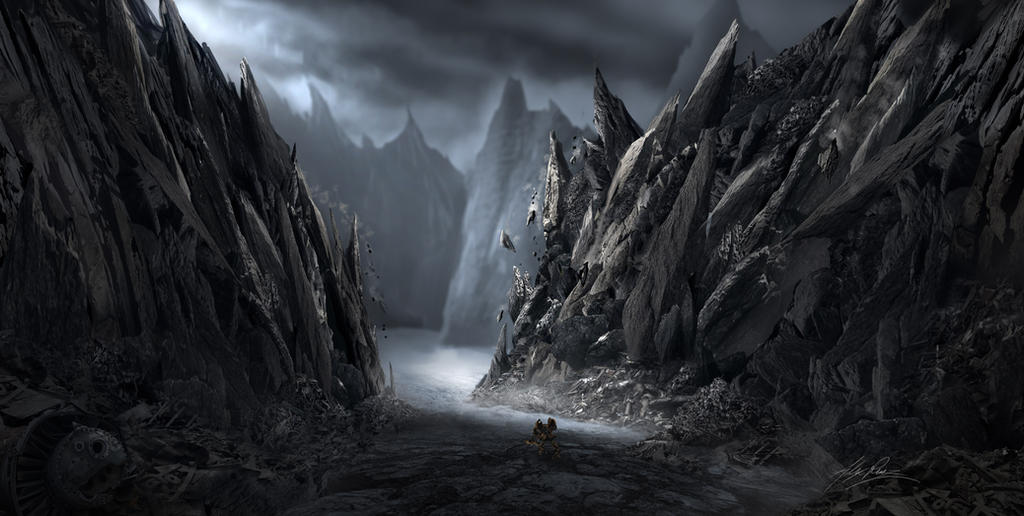 Rockslide Path by AlexRuizArt
