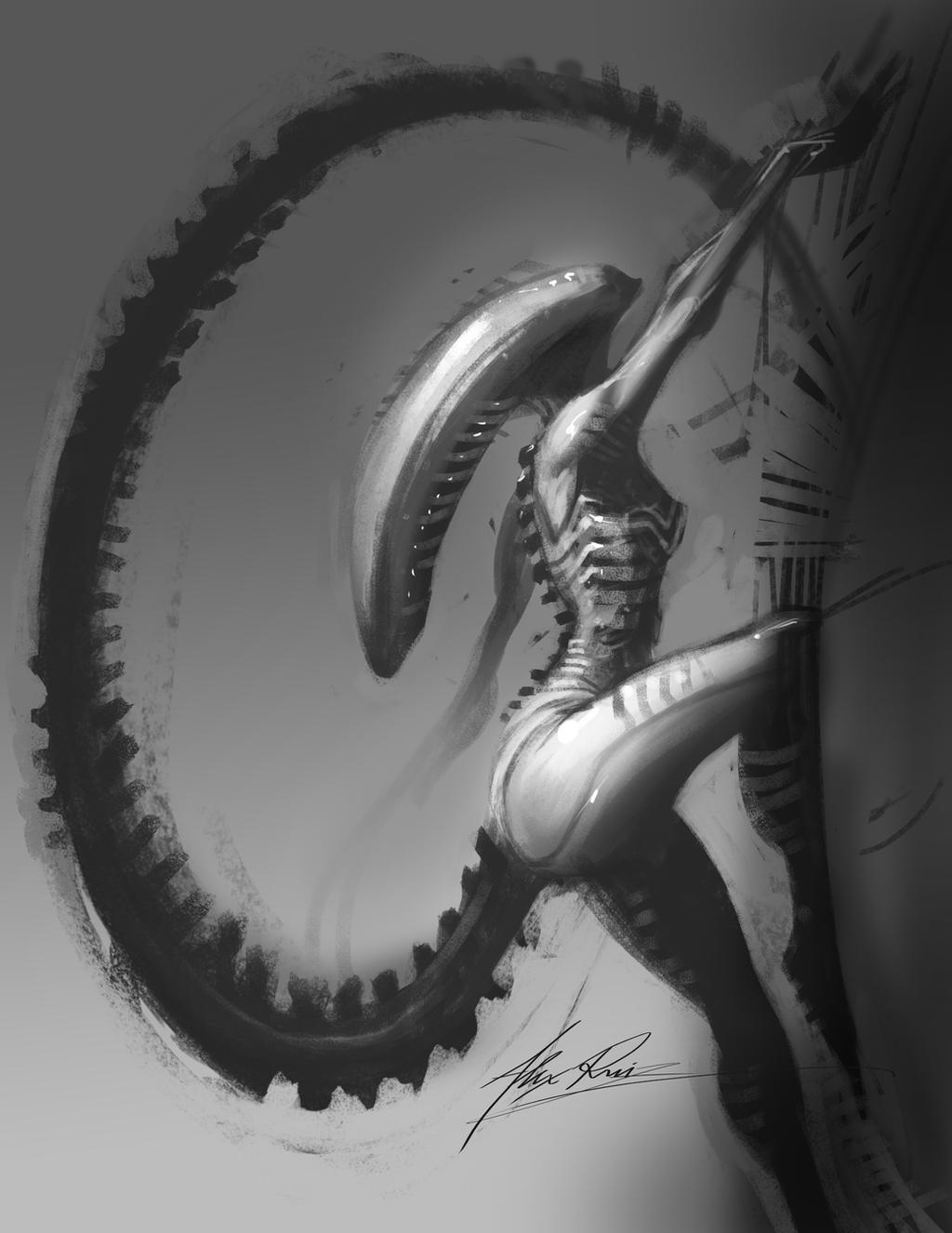 Sexy Alien by AlexRuizArt
