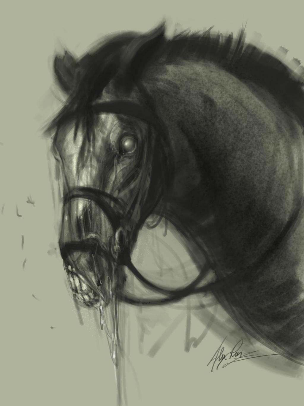 Zombie Horse by AlexRuizArt on DeviantArt