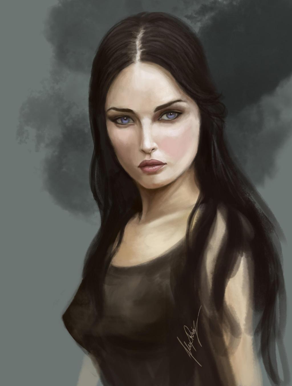Female Portrait Art Fe...