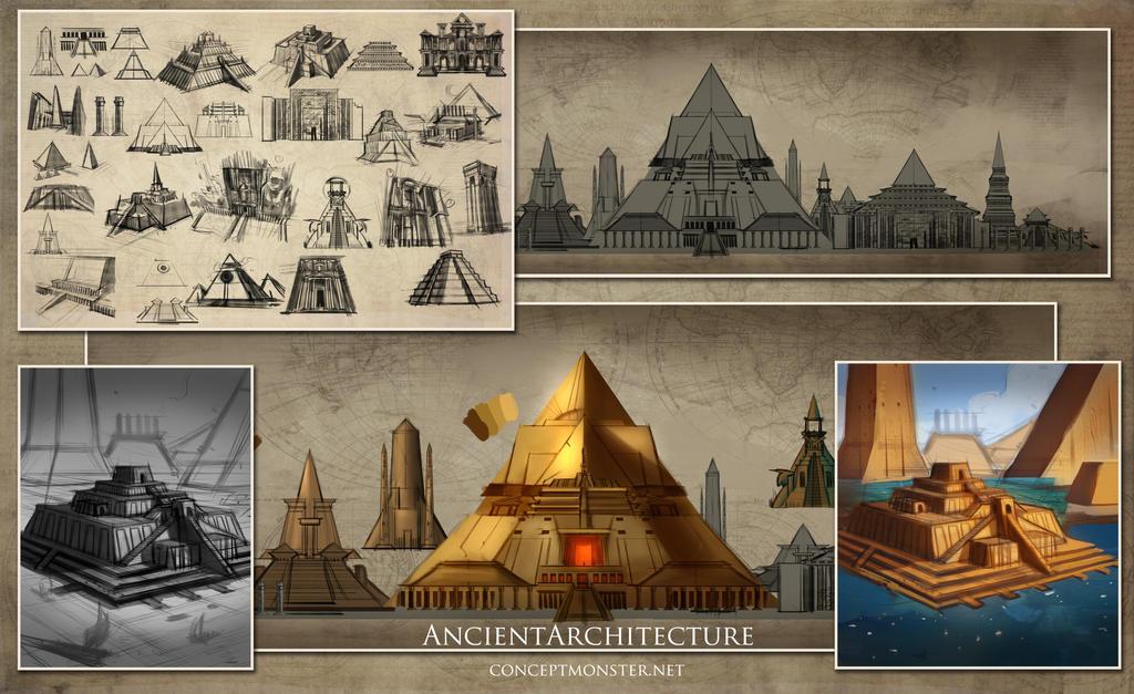 Ancient Architecture By Alexruizart On Deviantart