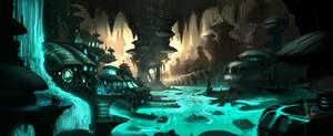 Slime Cavern by AlexRuizArt