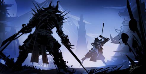 Samurai Duel by AlexRuizArt