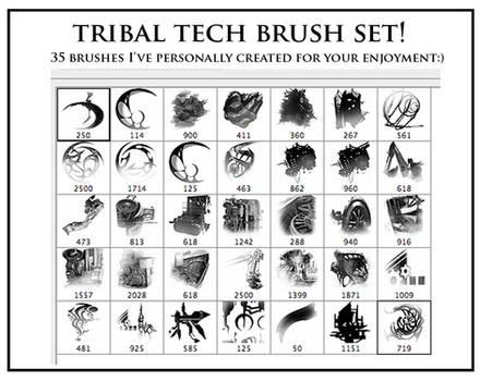 Tribal Tech Photoshop Brushes