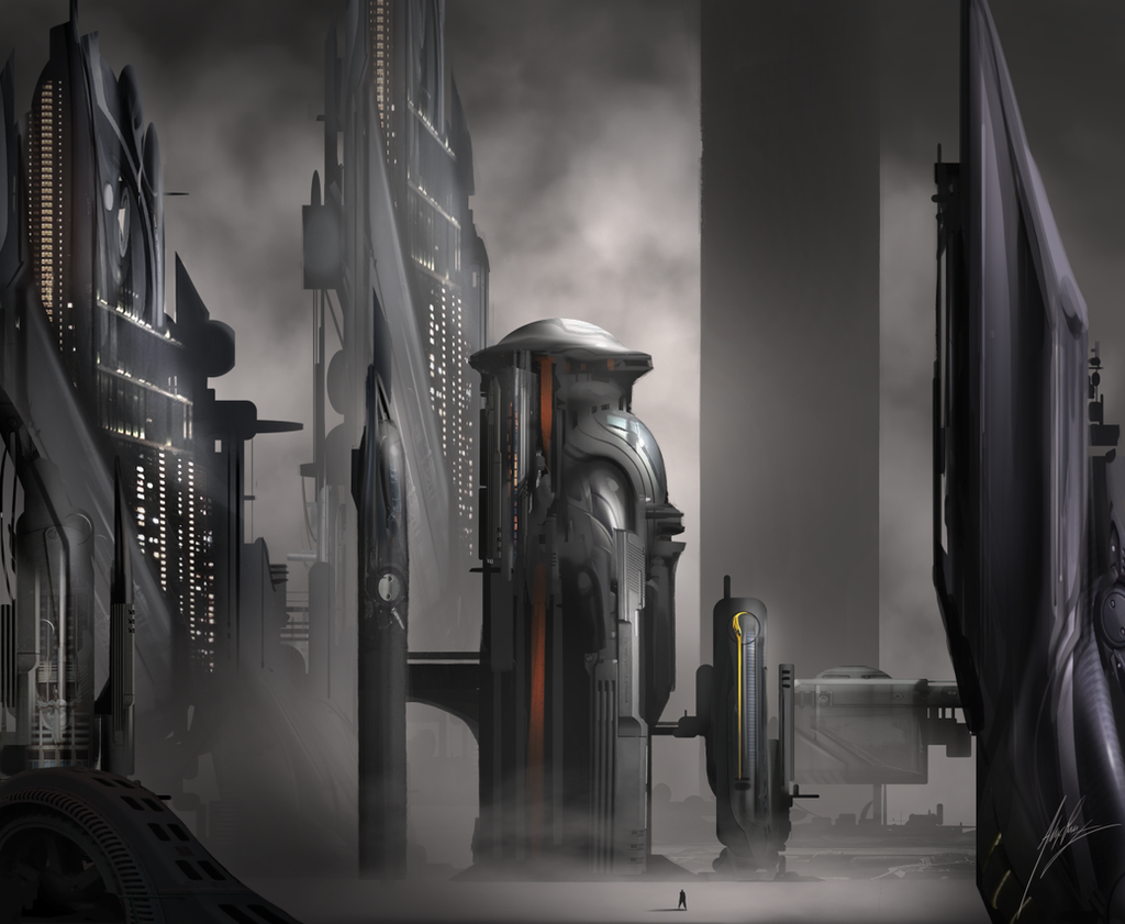 futuristic architecture by alexruizart on deviantart
