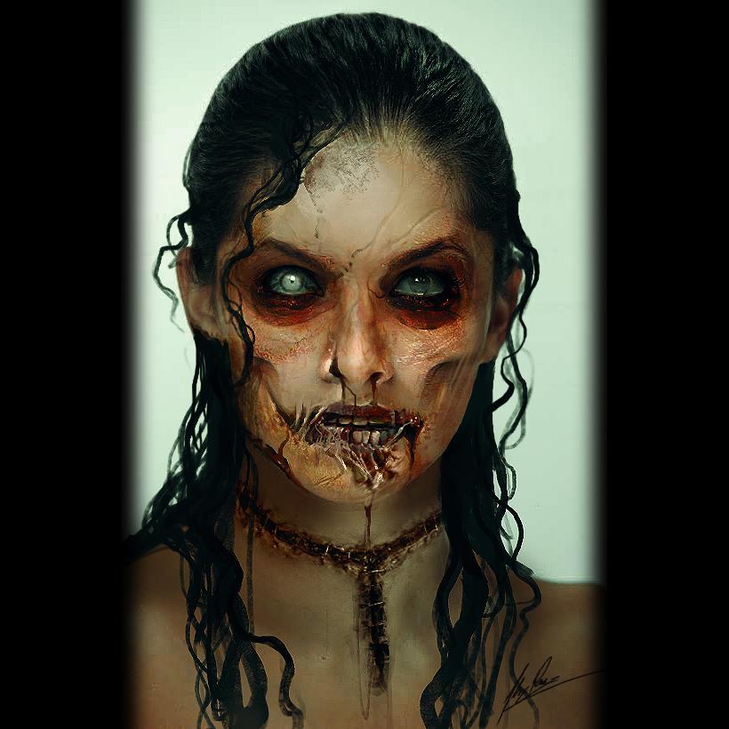Jessenia Zombie by AlexRuizArt