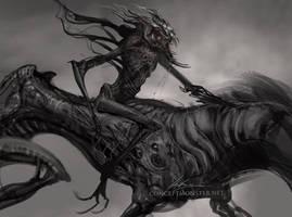 Maggot Rider by AlexRuizArt