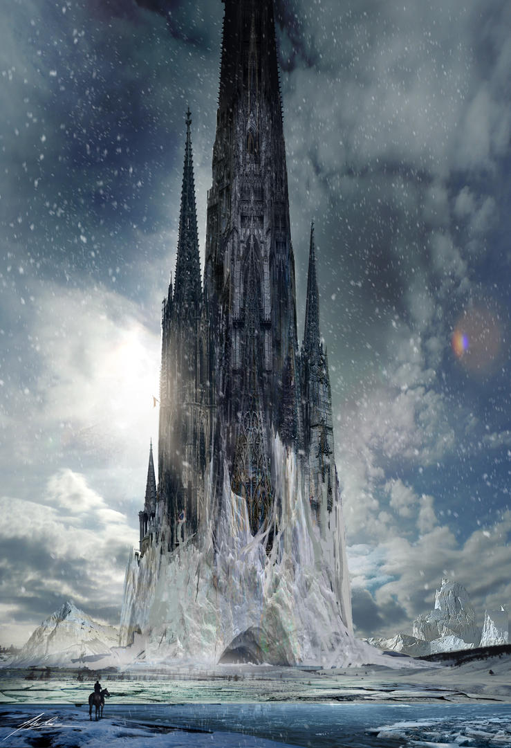 Gothic Ice Tower By AlexRuizArt