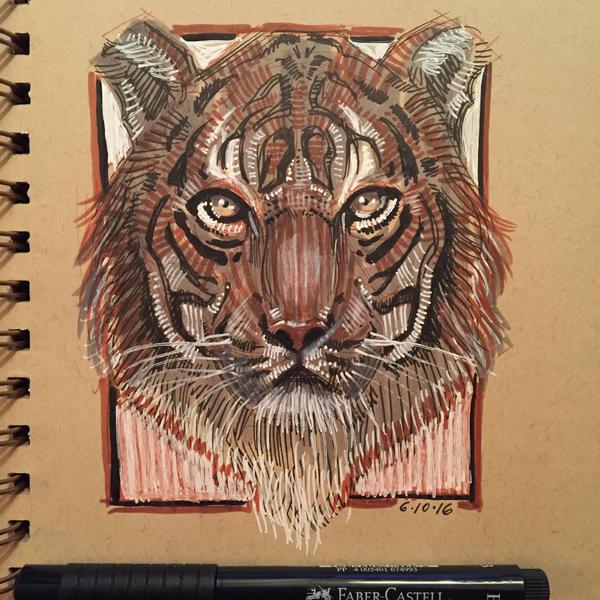 Tiger by AlexRuizArt