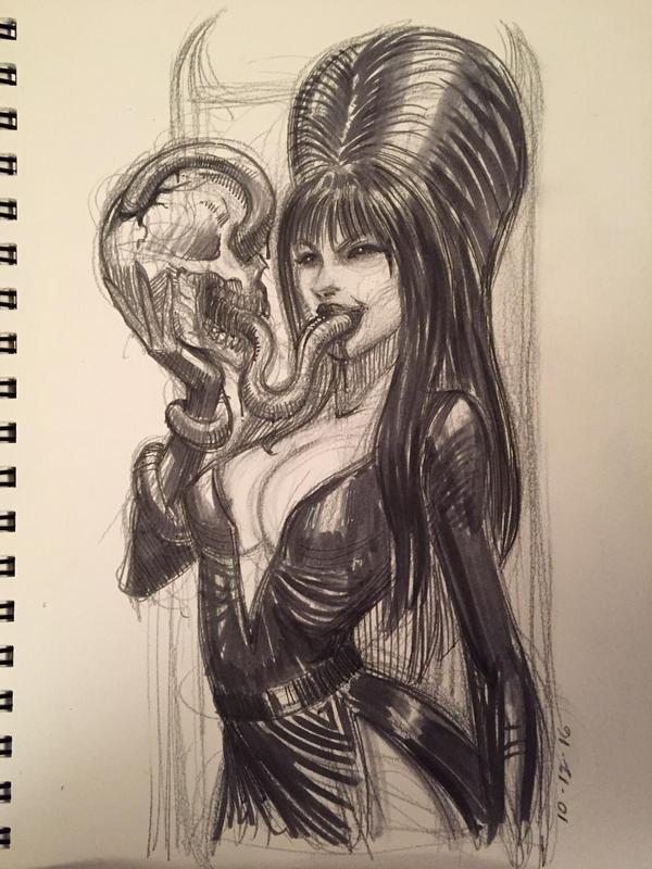 Elvira by AlexRuizArt