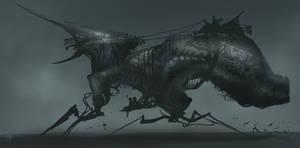 Alien Sleigh Ride by AlexRuizArt