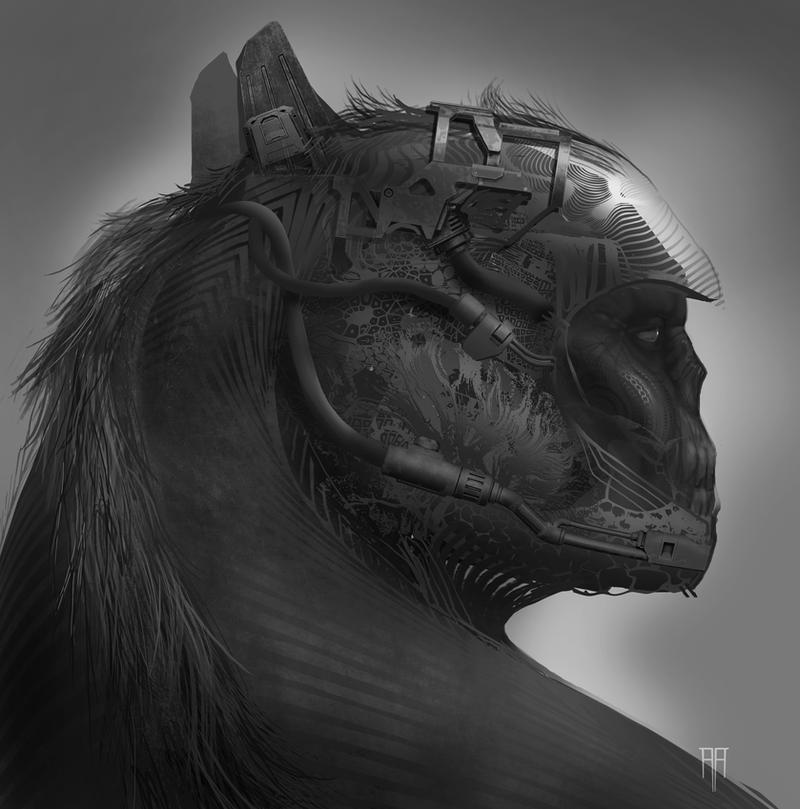 Brute Mech Warrior by AlexRuizArt
