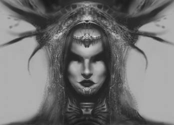 Headdress Warrior by AlexRuizArt