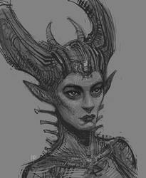 Horngirl by AlexRuizArt