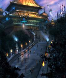 Pagoda by AlexRuizArt