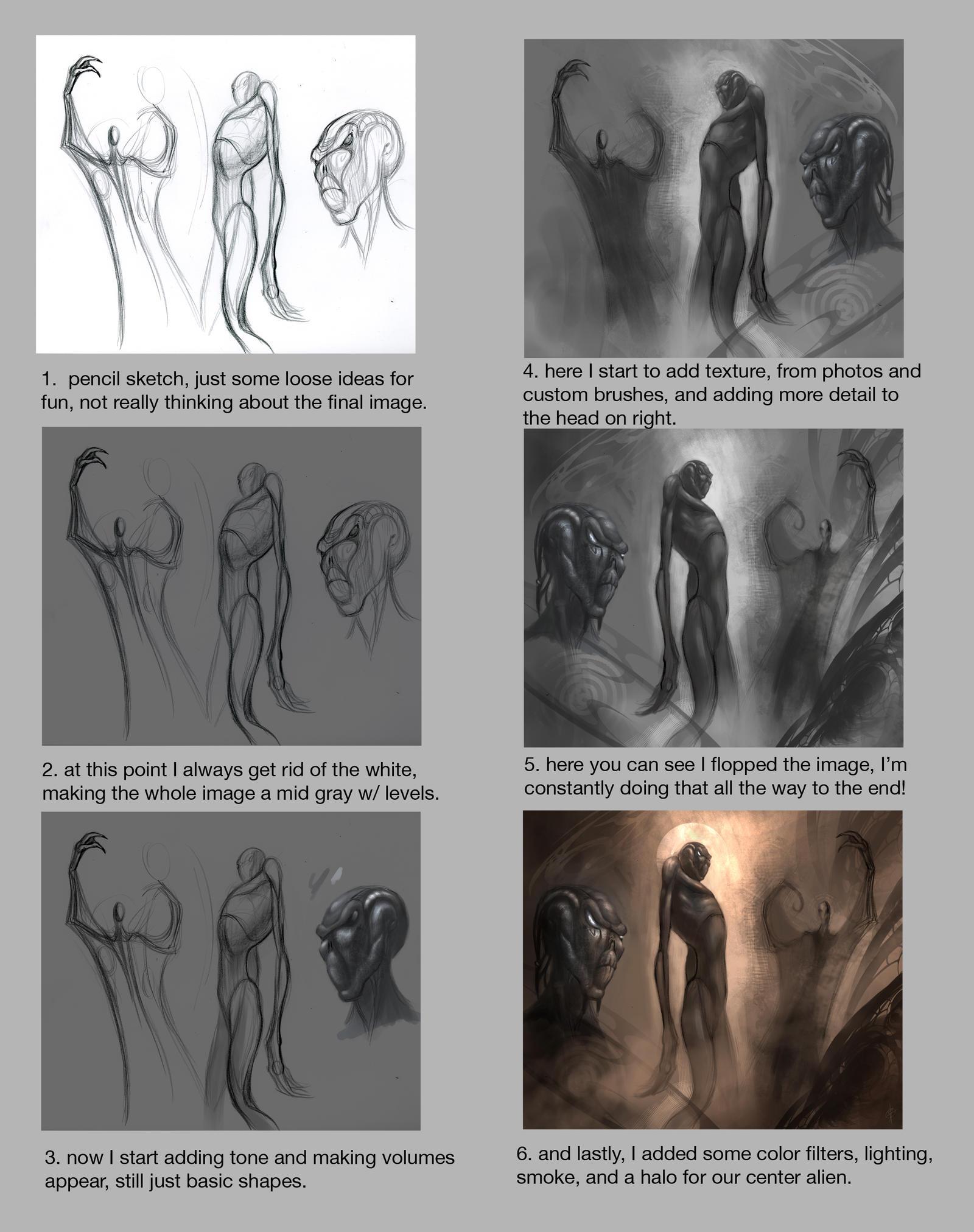 St. Alien tutorial by AlexRuizArt