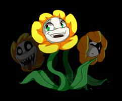 Flowey the flower by Rethza