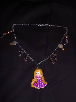 Rapunzel Polymer Clay charm Necklace