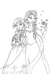 Do you wanna build a snowman? Anna and Elsa