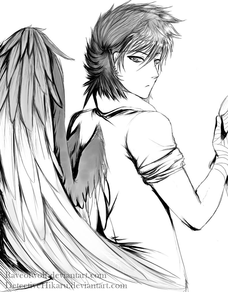 Emos con alas de angel para dibujar - Imagui