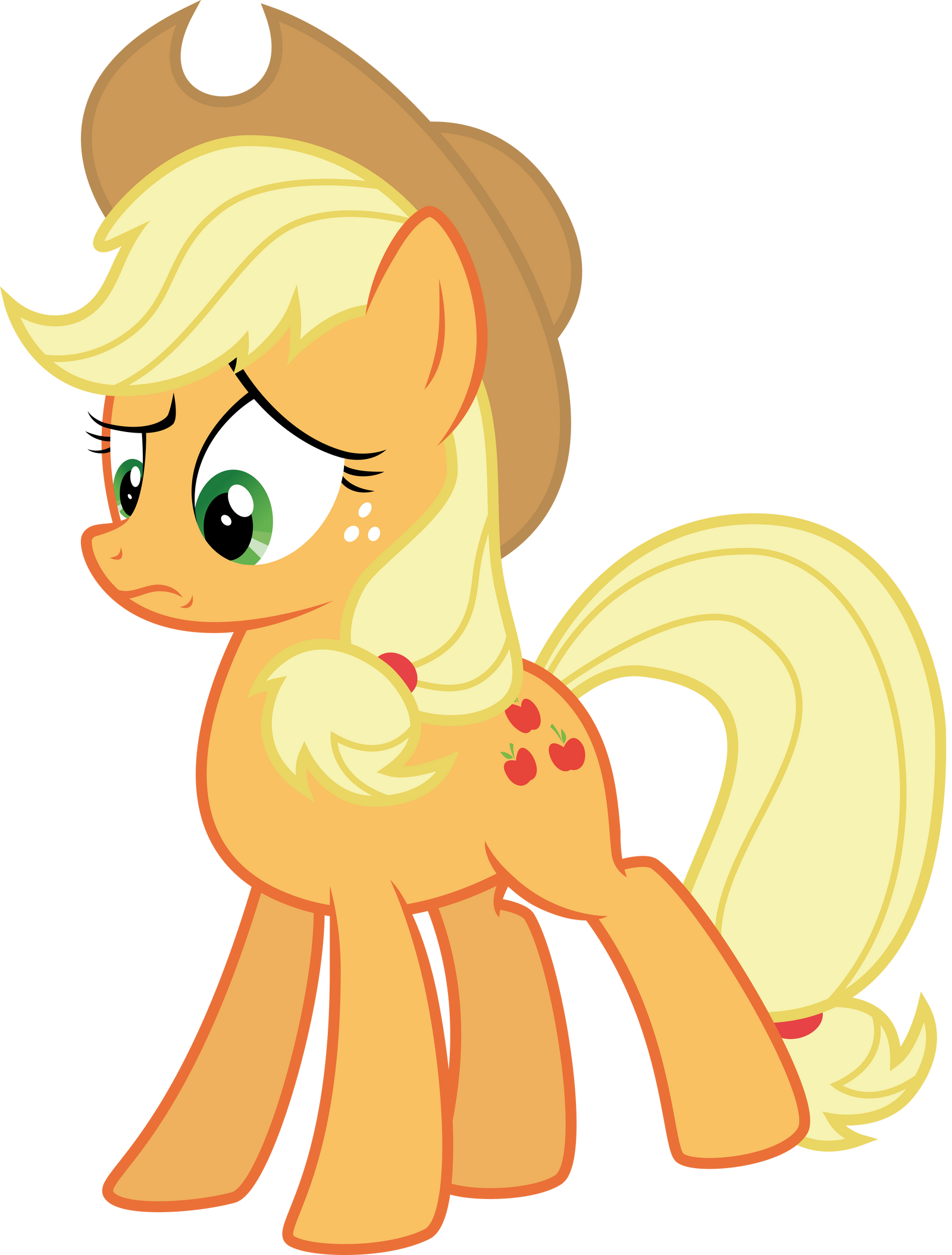 Applejack: 'What the hay?' by thatguy1945.  Applejack - Gasp by BobtheLurker, Jun 2, 2012.