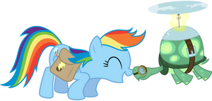 rainbow_dash_and_tank_snuggle_by_thatguy