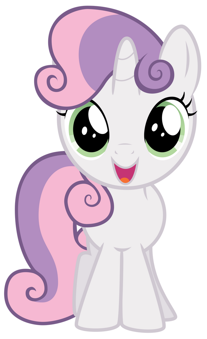 Excited Sweetie Belle By Thatguy1945 On Deviantart