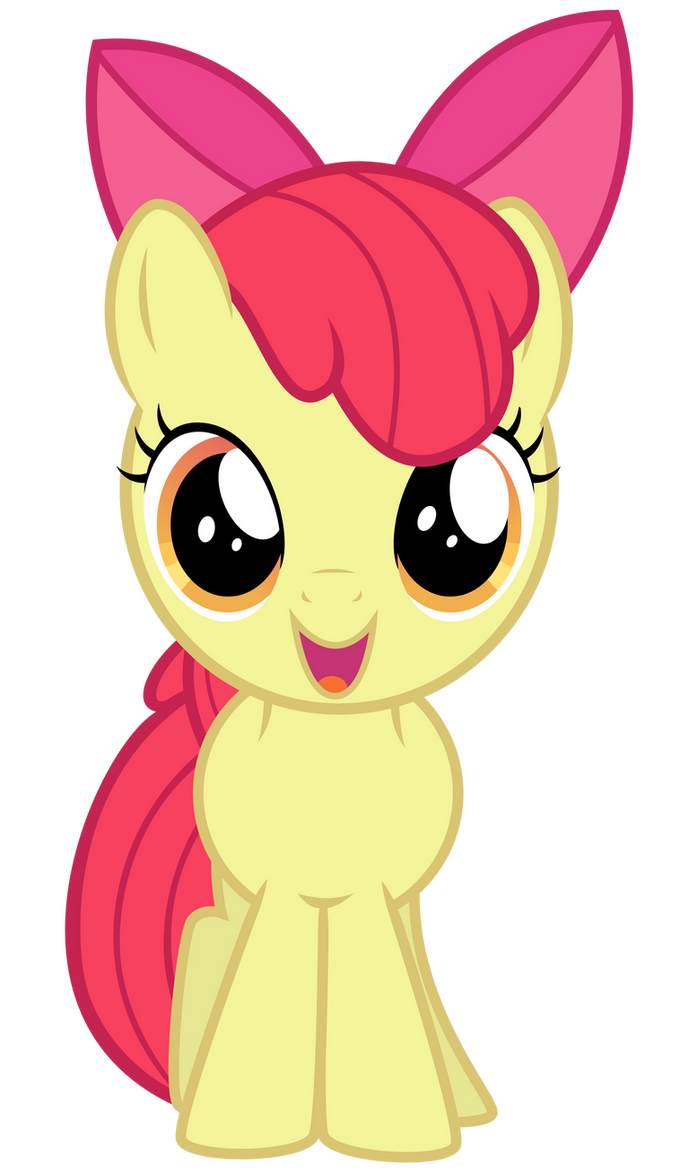 My Little Pony Friendship Is Magic Baby Apple Bloom Excited Apple Bloom by...