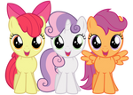 Excited Cutie Mark Crusaders