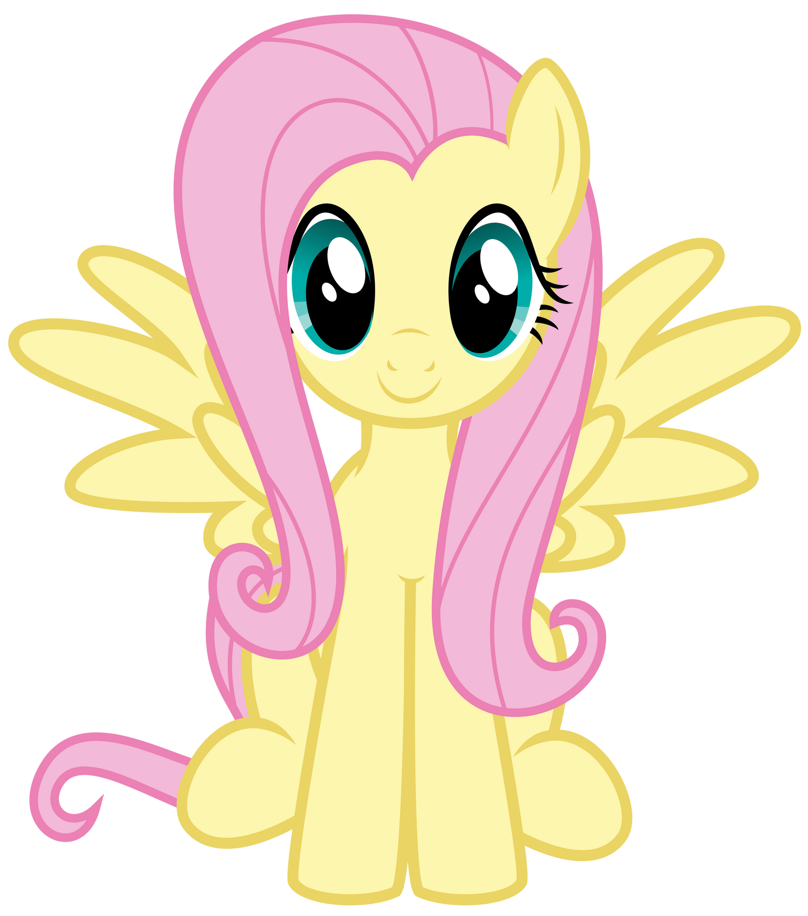 Fluttershy Sitting By Thatguy1945 On DeviantArt