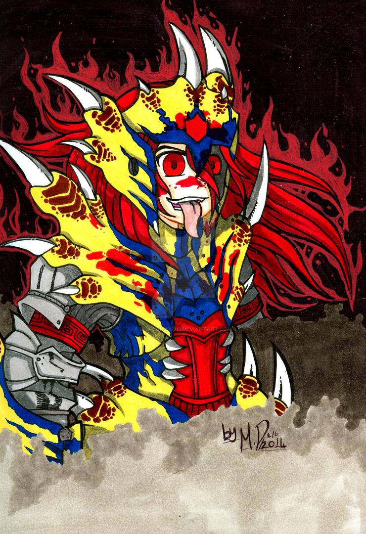 Rage of the Tigrex Huntress! by mimichi1234312