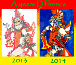A Years Diffrence :Agnaktor Gal: